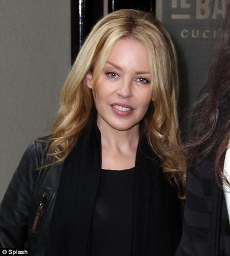 Fresh Faced Kylie Minogue Shows Off Tiny Midriff In Sheer