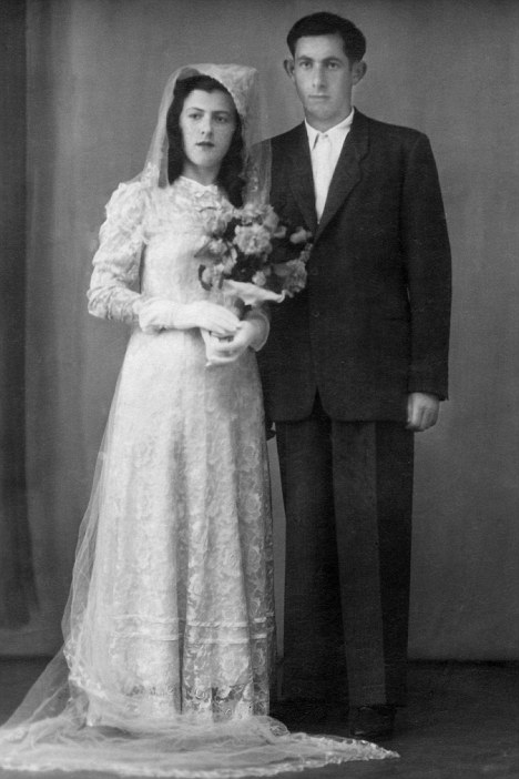 Tormented: Henry Sperling with his wife and fellow Holocaust  survivor, Yaja at their wedding in 1947