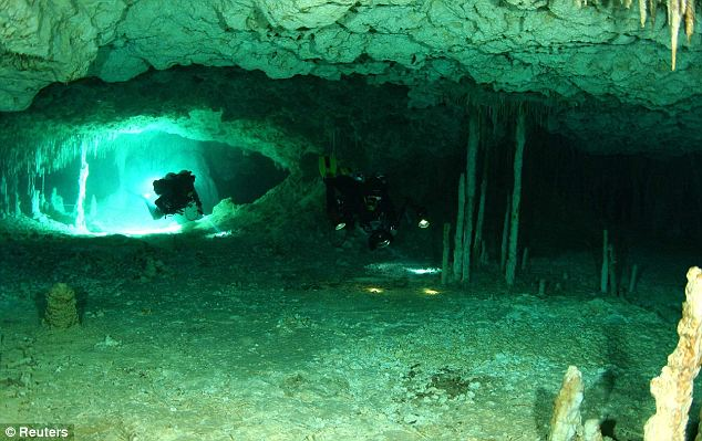Inside the underwater cave in Mexico four years after divers stumbled upon the well-preserved corpse