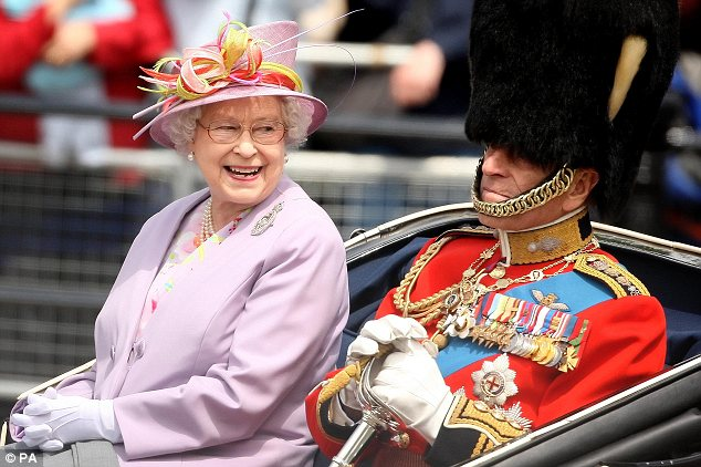 Picture perfect: Queen Elizabeth II and the Duke of Edinburgh  pictured in June returning to Buckingham Palace following the Trooping  the Colour ceremony at Horse Guards Parade.