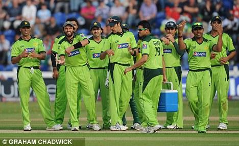 Disdain: Pakistan Twenty20 captain Shahid Afridi, second from left, has apologised on behalf of his team-mates