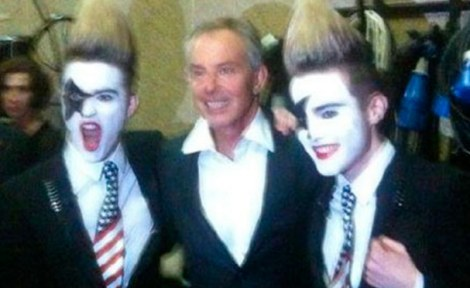 Bad publicity: Mr Blair has been criticised for writing his memoir and an appearance alongside Jedward may not have done his reputation any favours