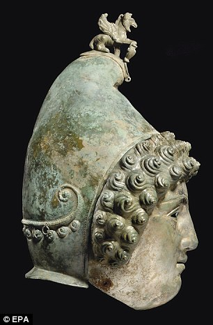 Enigmatic: The helmet would have been worn as a mark of excellence by Roman soldiers at cavalry sport parades