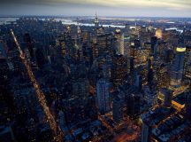 Shots of NY Big Apple at night taken from helicopter by British photograher | Daily Mail Online