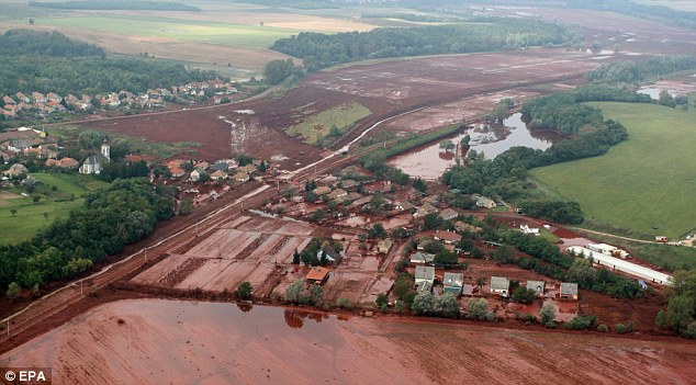 Drowned: Huge pools of the toxic red sludge have formed in flat areas