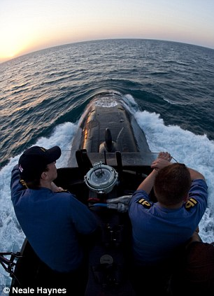 Officer Of The Watch on HMS Talent and the Lookout on the bridge