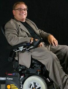 Johnnie Tuitel, shown in his wheelchair