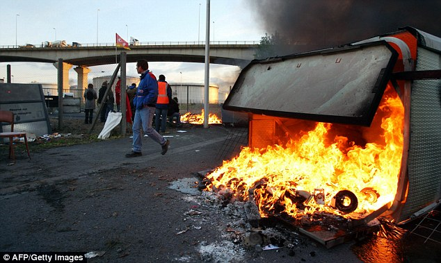 The protests are in response to President Nicolas Sarkozy's plan to raise the retirement age to from 60 to 62