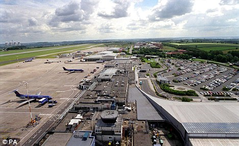 East Midlands Airport: A suspicious package was discovered there today (file picture)