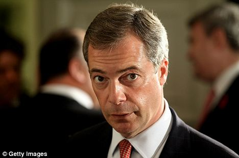 Outraged: Former UKIP leader Nigel Farage was infuriated by Van Rompuy's comments