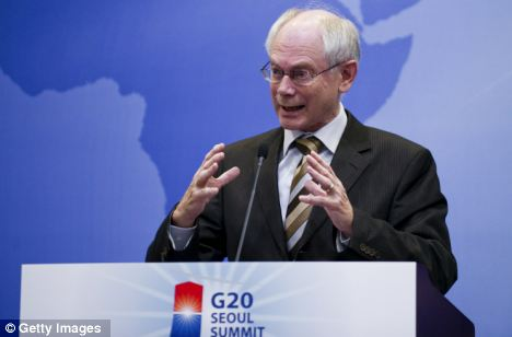 Nation state is dead: Herman Van Rompuy, President of the European Council, at the G20 Summit in Seoul, South Korea, today