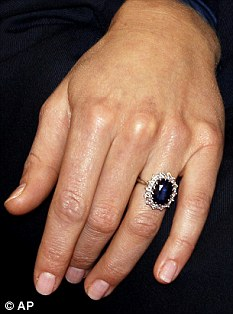 Sparkling sapphire: The ring was bought for £28,500 but was later valued at £250,000