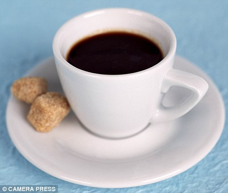Morning pick-me-up: Scientists found taking caffeine and sugar at the same time boosted the brain's performance more than taking them on their own
