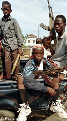 Lost youth: Child soldiers on the streets of Monrovia in 1996