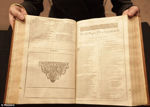 One of a kind: the First Folio of William Shakespeare's plays, printed in 1623 could fetch up to £1.5 million