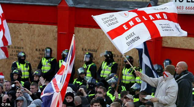 Mob rule: The EDL and its sister organisations have been stirring up trouble for the past 18 months by exploiting legitimate ­concerns over Islamic extremism