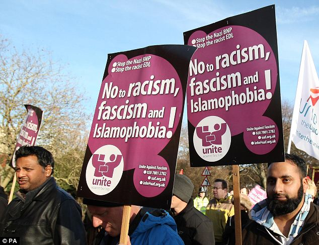 Positive message: There is still strong resistance to increasing EDL demonstrations across Britain
