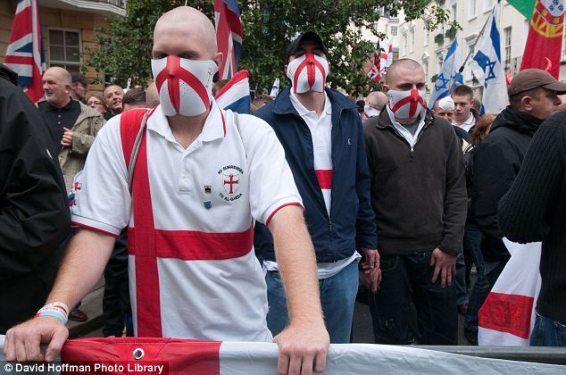 Masked menace: The EDL now has almost 40,000 ­supporters on its Facebook page. A year ago, it had just 1,500