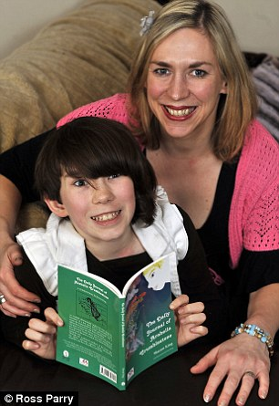 Rosie King, 12, has Asperger's Syndrome and has illustrated a fairy tale written by her mother Sharon about autism