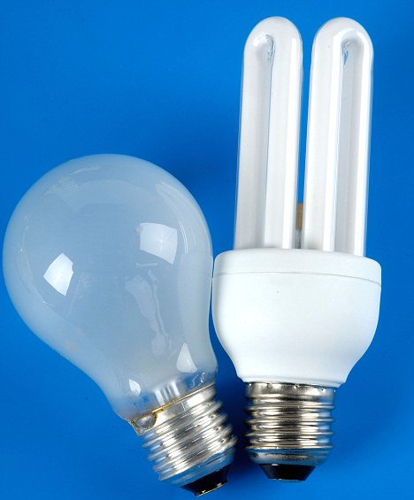 From a normal light bulb to the energy saving model. There are fears that broken eco-bulbs pose a health risk