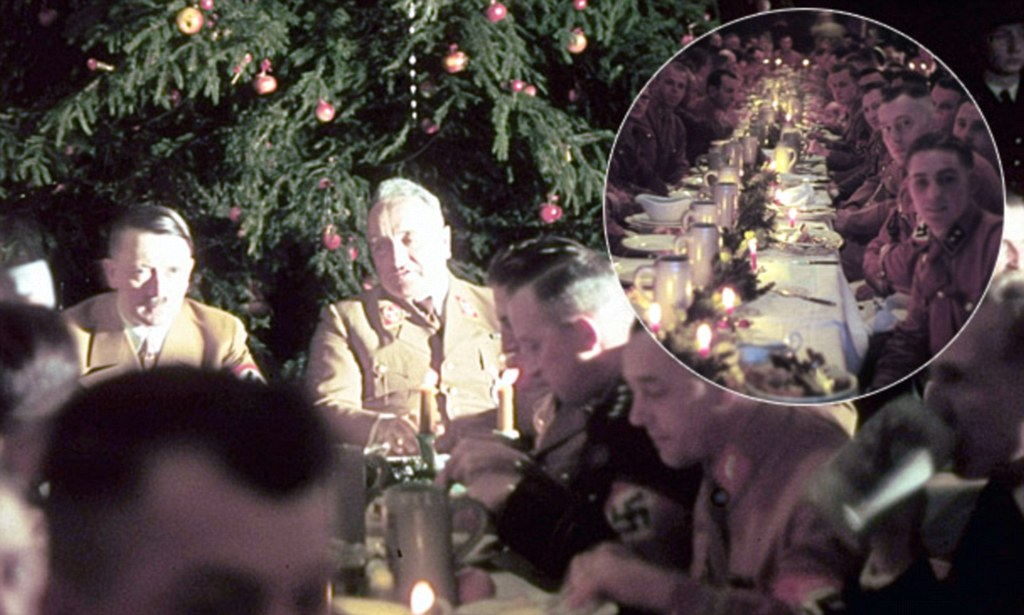 Hitlers Christmas Party Rare Photographs Capture Leading