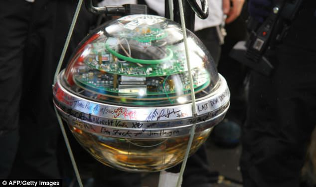 The final module, signed by all the team, is readied for deployment