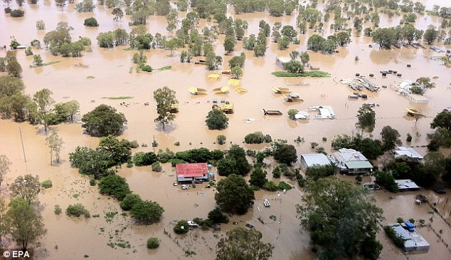 Water disaster: Properties across Queensland were inundated with floods