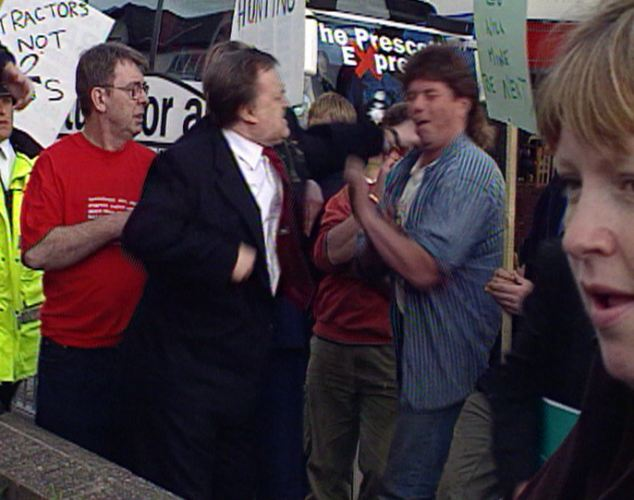 'Thrilla in the Rhyl-a': During the 2001 election campaign Lord Prescott notoriously thumped protester Craig Evans after he threw an egg at him in the Welsh town of Rhyl
