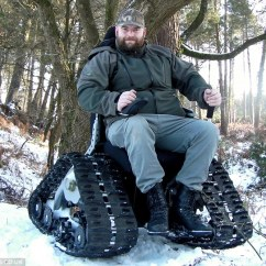 Tank Chair Wheelchair Electronic Wheel India Disabled Man Banned From Using Off Road Which By Killjoy Dvla Chiefs
