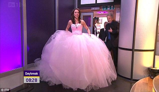 Christine Bleakley Tries On A Big Fat Wedding Dress On