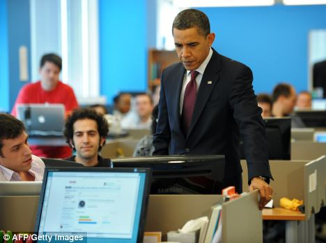 'Turn it off!': Under proposed new laws, President Barack Obama would have the power to cut access to the internet in the event of a cyber threat to national security