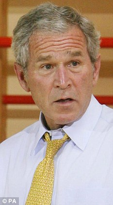 Change of plan: George W. Bush has cancelled a visit to Geneva for a charity gala over fears he could be arrested on torture charges