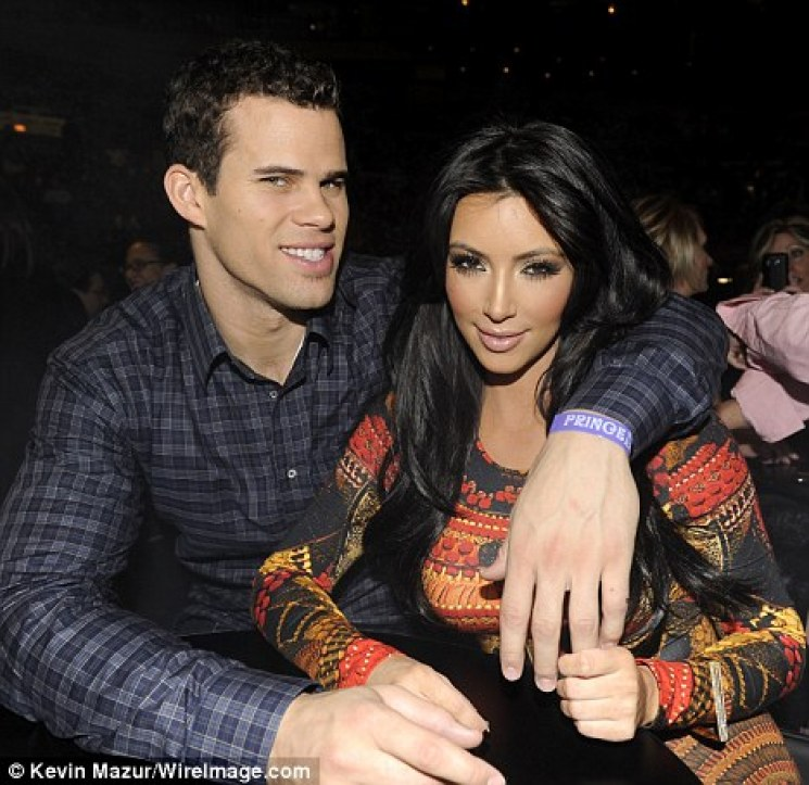 Date night: Kim was joined at the concert by her new man, basketball star Kris Humphries, who she was first spotted with before Christmas