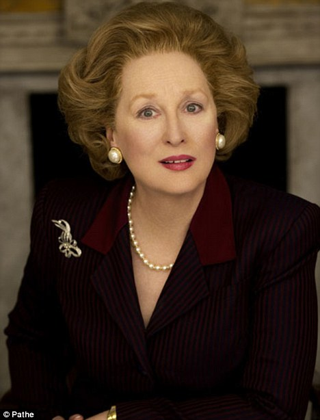 In character: The first image of Meryl Streep as Baroness Margaret Thatcher in the biopic The Iron Lady