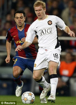 standing lights for living room white gloss furniture argos xavi interview: paul scholes is the best midfielder in ...