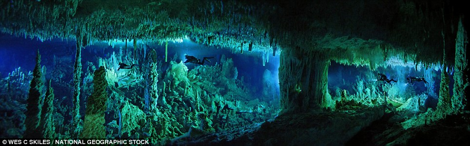80ft below the surface, the Cascade room in Dan's Cave, on Abaco Island in the Bahamas, is one of the most sensational chambers in the cave system