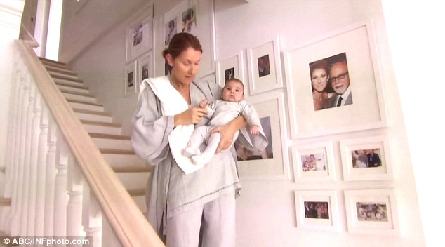 Baby love: Celine Dion shares some intimate moments with her new twins on an upcoming episode of Oprah