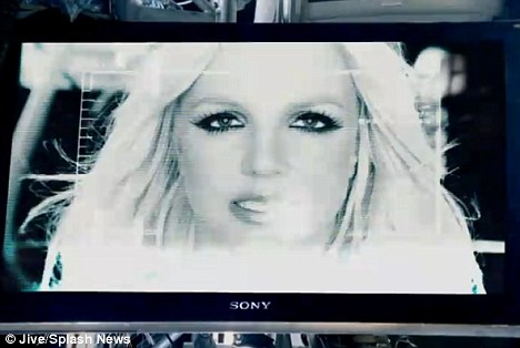 Cashing in: Britney Spears, pictured here on a Sony TV, is said to have made half a million dollars from product placements in the music video for her new single Hold It Against Me