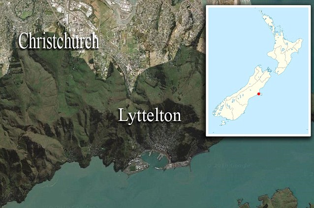 Damage: The 6.3 earthquake struck the New Zealand city of Chrsitchurch