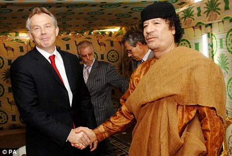 Blair and Gadaffi