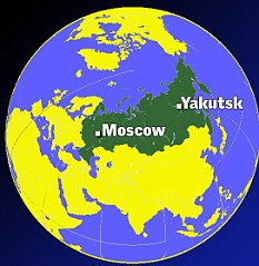 Remote: The UFO was picked up over Yakutsk in Siberia