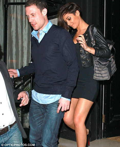 New love: The Saturdays star Frankie, who dumped Dougie in November, is now with footballer Wayne Bridge