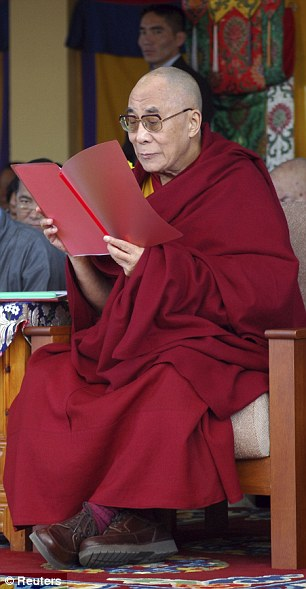 Retirement: The Dalai Lama, pictured today, said that he was stepping down from politics after six decades
