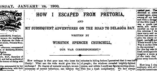 Photo Of Winston Churchill On Horseback After Daring Boer