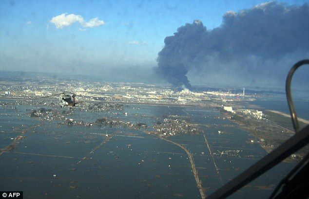 Aid effort: 17 members of the helicopter crew were affected by radiation from the stricken Fukushima plant