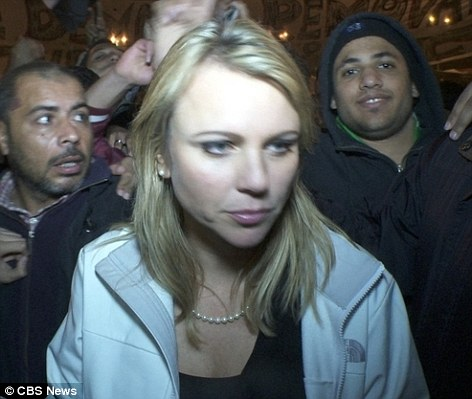 Assault: Last month Lara Logan, Chief Foreign Correspondent for CBS, was also sexually abused while covering scenes of celebration in Cairo's Tahrir Square