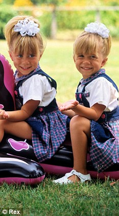 Child stars: The twins, pictured in 1991, shot to fame as toddlers when they were cast in Full House