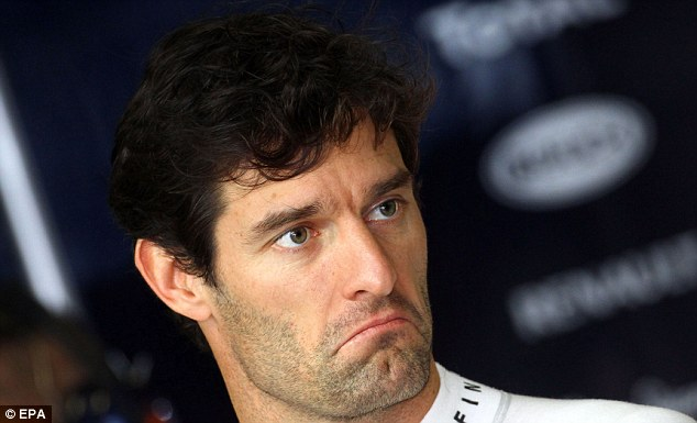 What do you mean only third? Mark Webber looks less than impressed