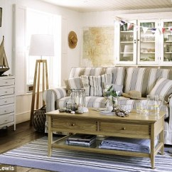 Blue Striped Sofa Uk Pearson Reviews Sun Seaside And Style Bring The Shore Indoors Daily Mail Online Padstow Large Coastal Stripe 1 300 Weymouth Rug From 45