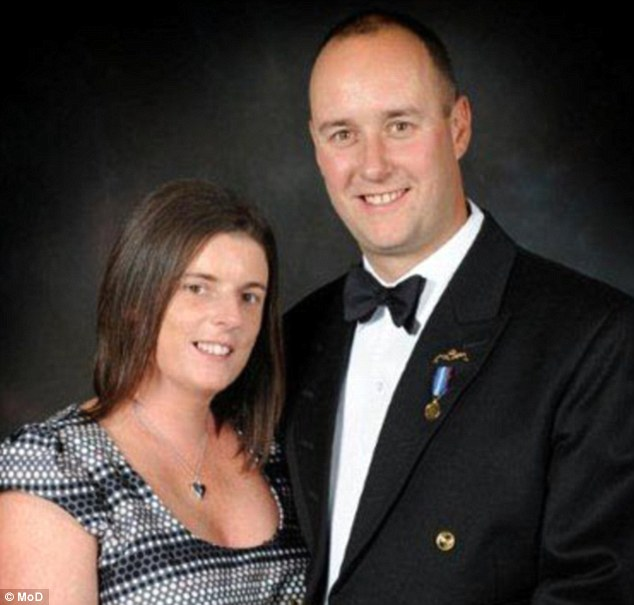 Lieutenant Commander Ian Molyneux with his wife, Gillian. She described him as being 'very proud to be an officer in the Royal Navy Submarine Service'